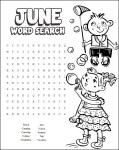 Image of Printable June Coloring Calendar