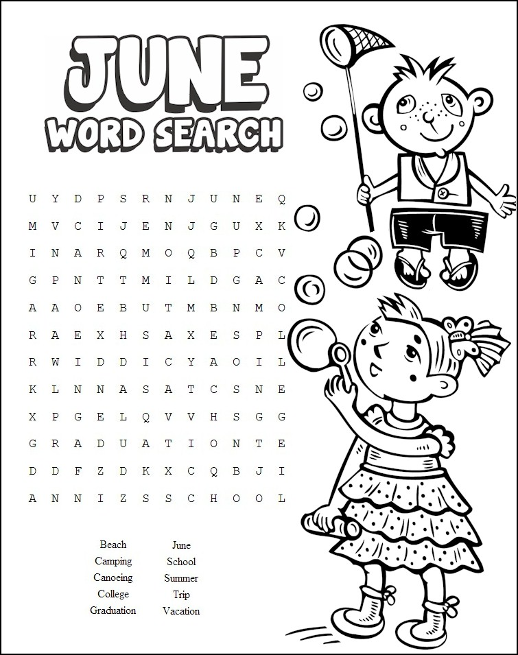 Image of June Word Search