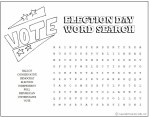 Printable Election Day Word Search