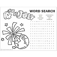 July 4th Word Puzzles