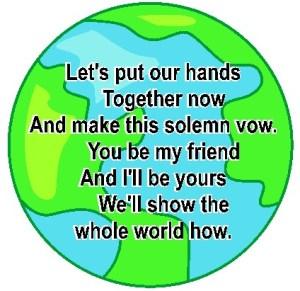 Image of World Neighbors Handprint Poem