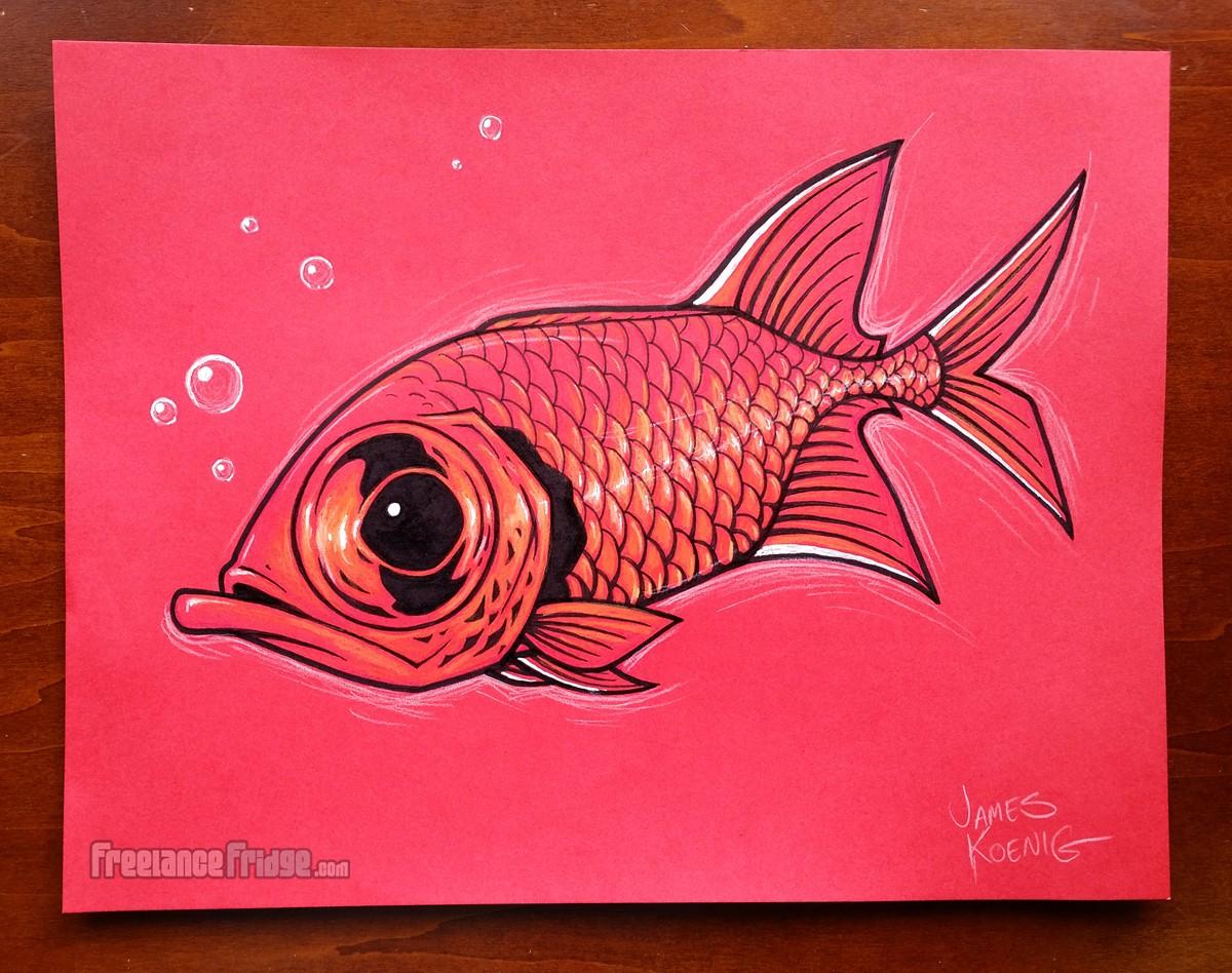 big eye red squirrelfish