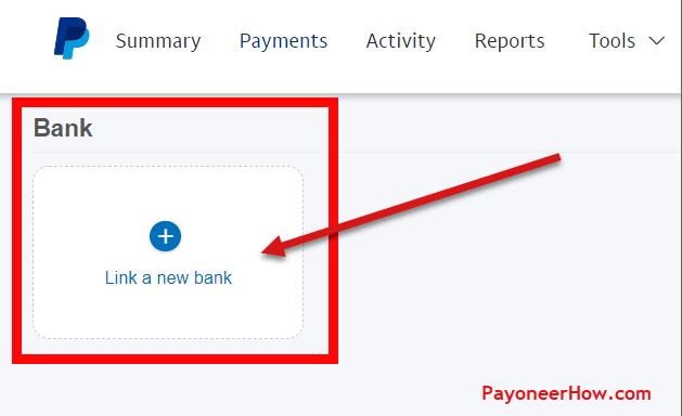 Click Link a New Bank