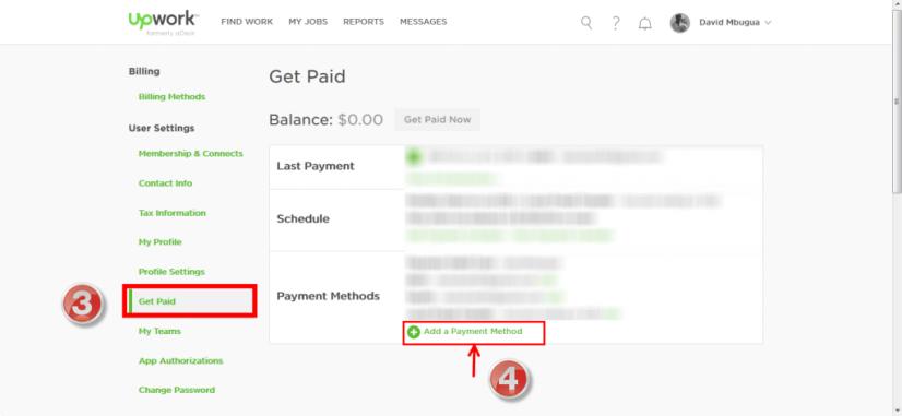 Set up Payment Method 3