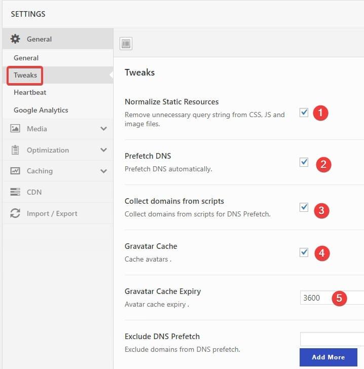 Swift Performance plugin default settings - Freelancers tools 02