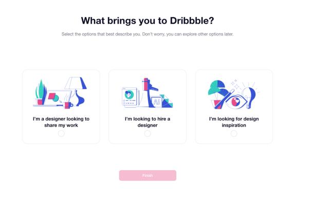 Dribbble account types