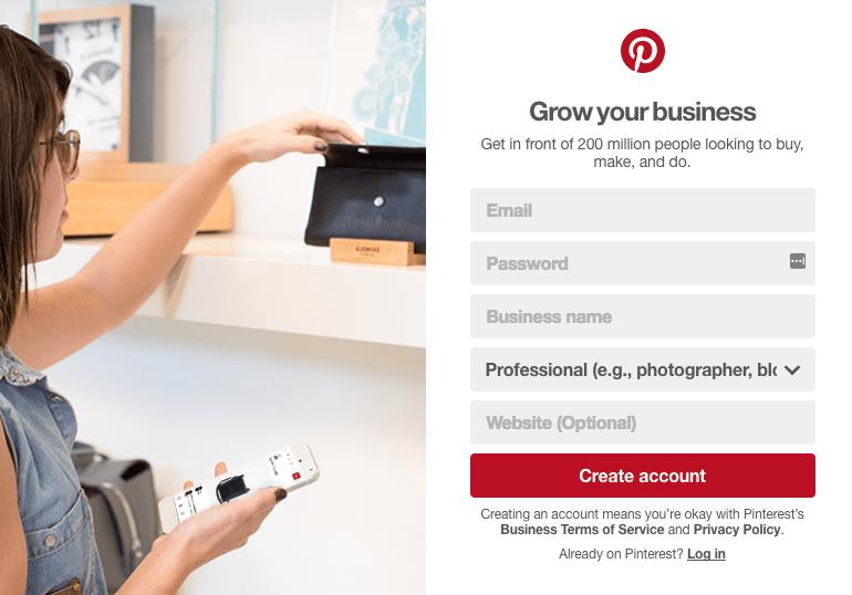Pinterest Business Login