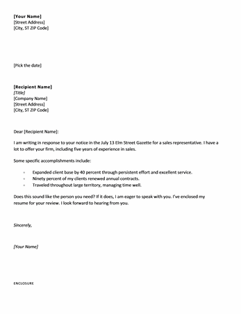 Request To Reschedule A Meeting – Sales Letter Template