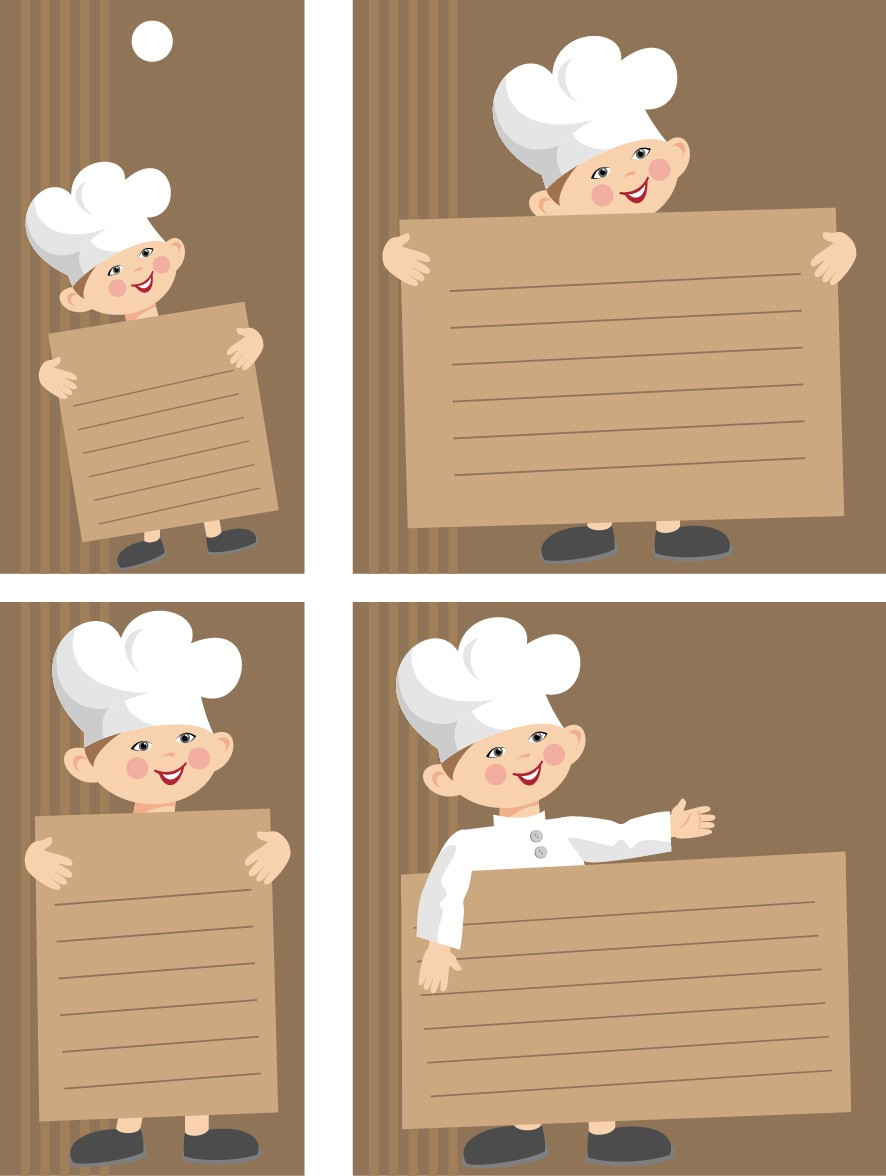 hight resolution of chefs bulletin board