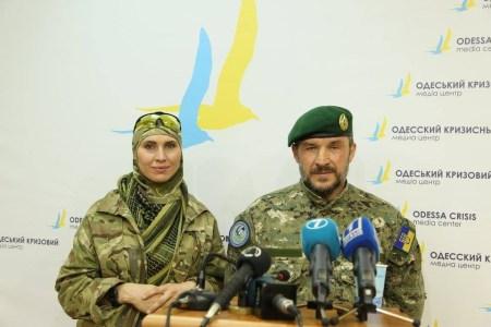Amina Okujeva a v únoru minulého roku padlý velitel praporu Džochara Dudajeva - Isa Munajev. Foto: Amina Okujeva via Facebook