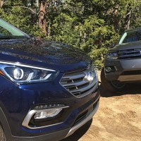 Test: Hyundai Santa Fe VS VW Tiguan v terénu (video)