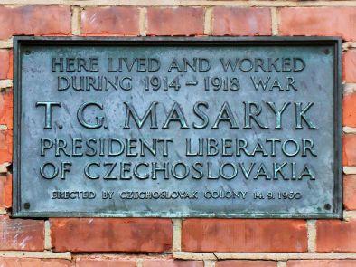 Masaryk, Black Plaque, Hampstead, London, Spudgun67