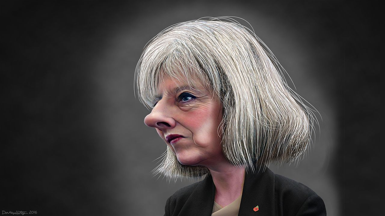 Theresa Mary May Caricature, DonkeyHotey