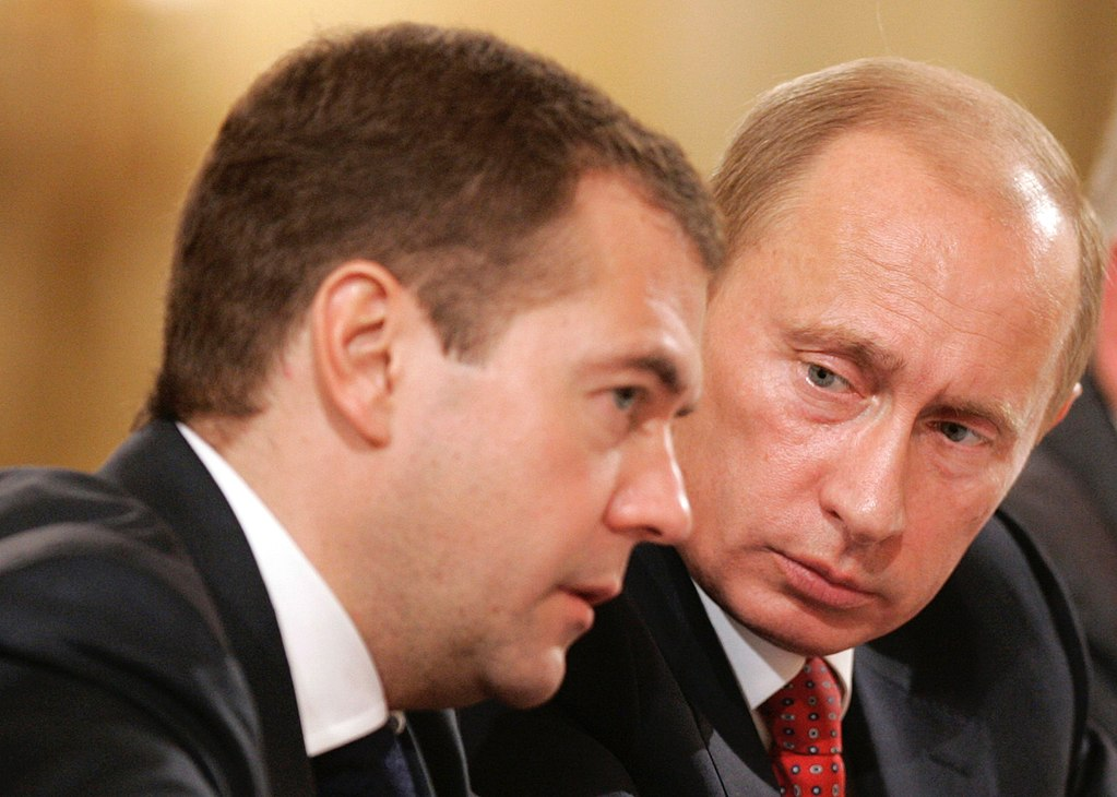 Dmitry Medvedev and Vladimir Putin, photo commons.wikimedia.org