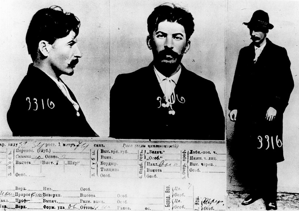 Stalin's Mug Shot, source Tsarist police document, by commons.wikimedia.org