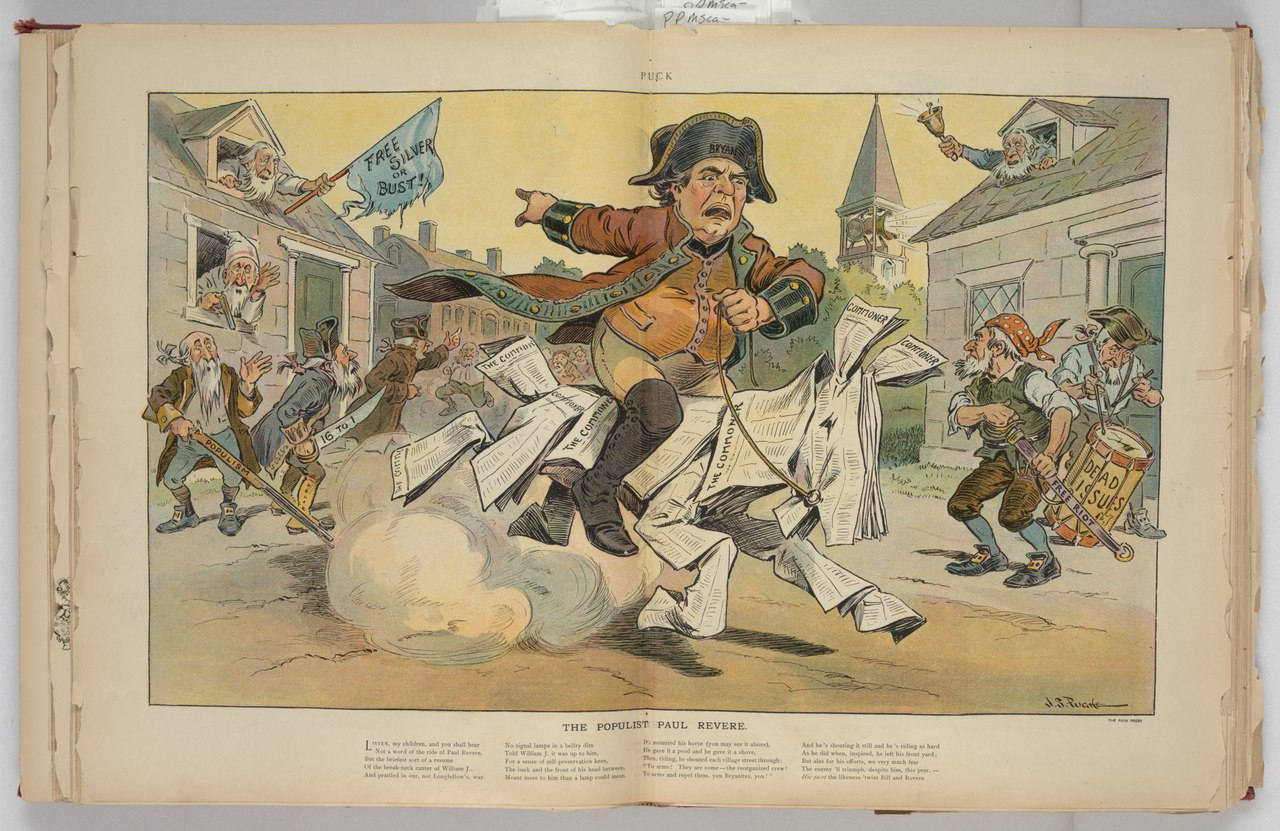 The populist Paul Revere by J. S. Pughe, Library of Congress
