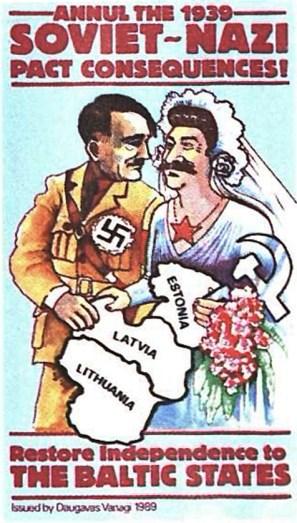 Poster Denouncing the Molotov Ribbentrop Pact, by Daugavas Vanagi