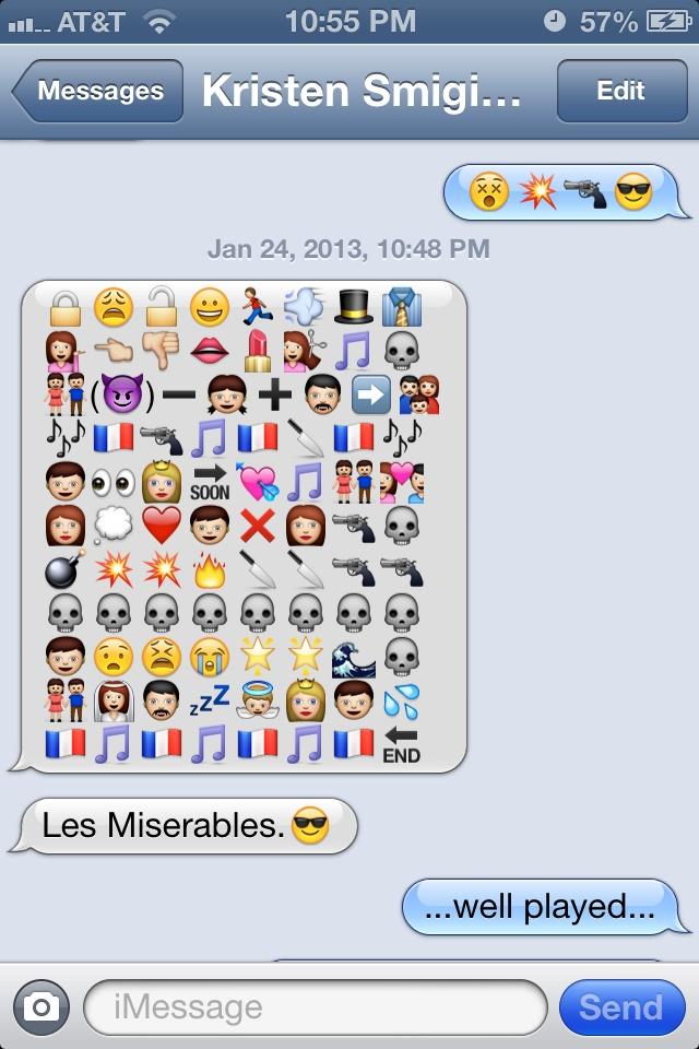 emoji love story messages