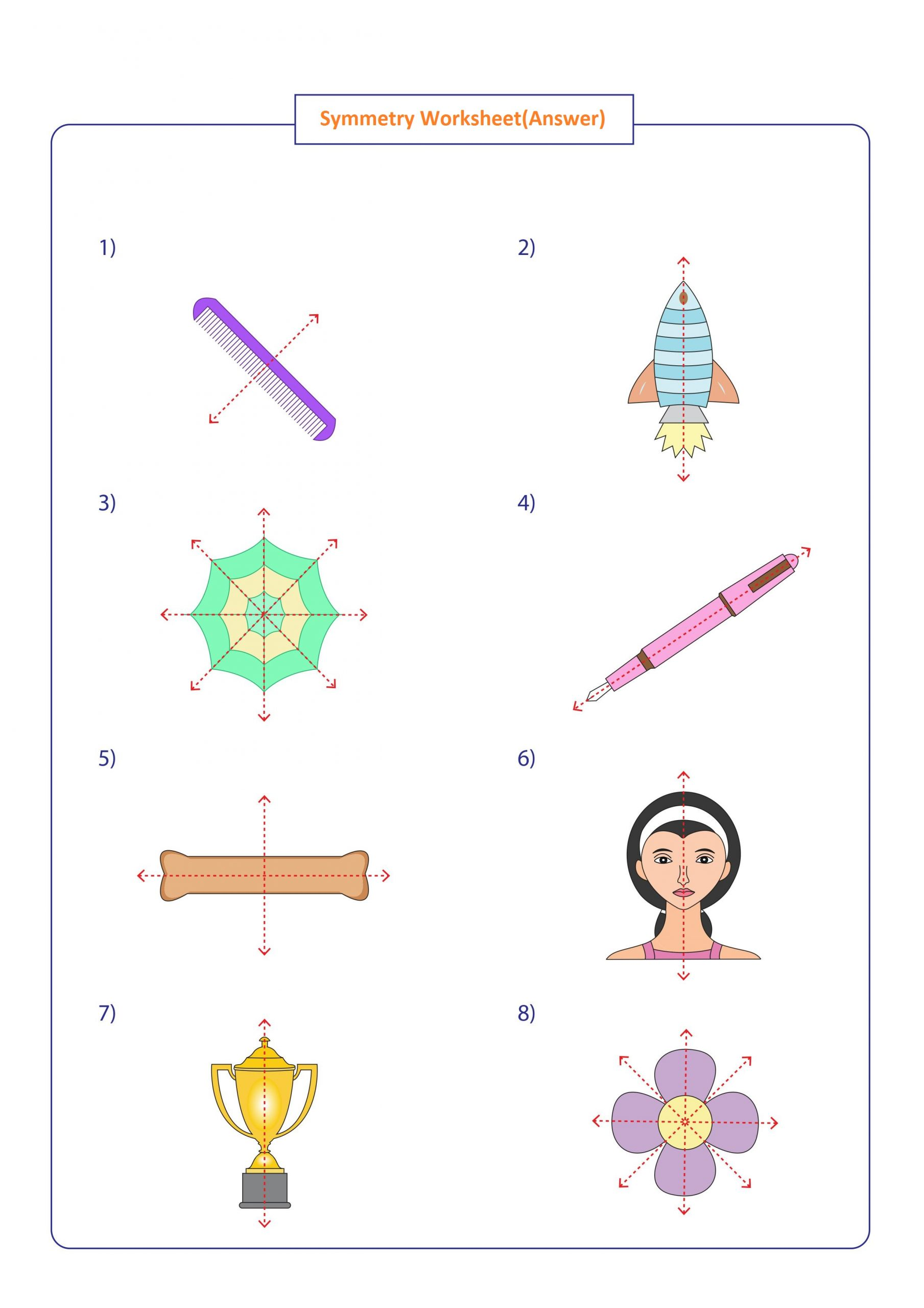 hight resolution of Simple Symmetry Worksheet   Printable Worksheets and Activities for  Teachers
