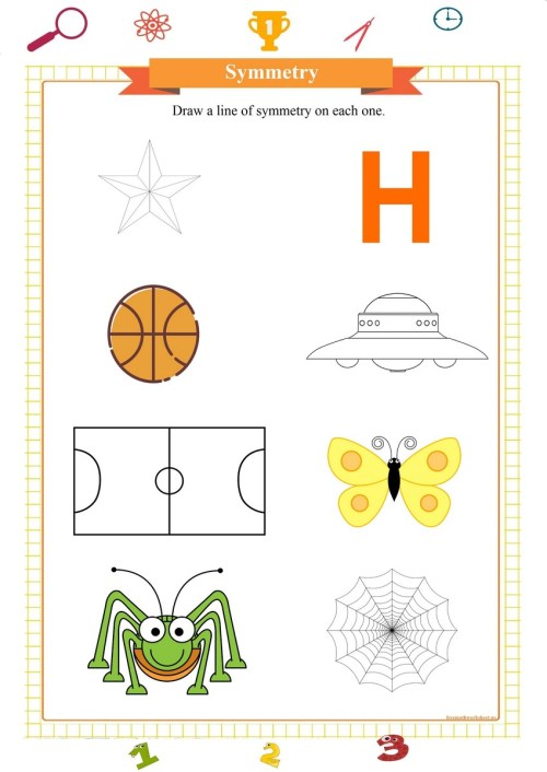 small resolution of Symmetry worksheets