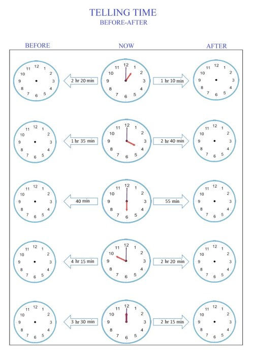 small resolution of telling time worksheet pdf Archives - Free Math Worksheets