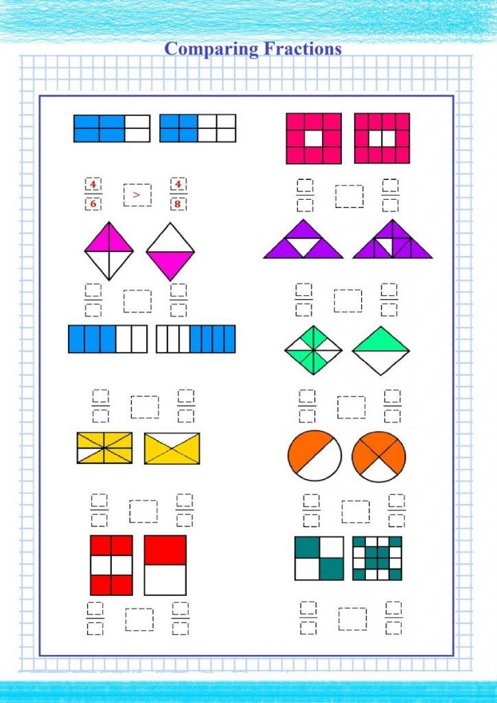 Comparing Fractions Visual Worksheet