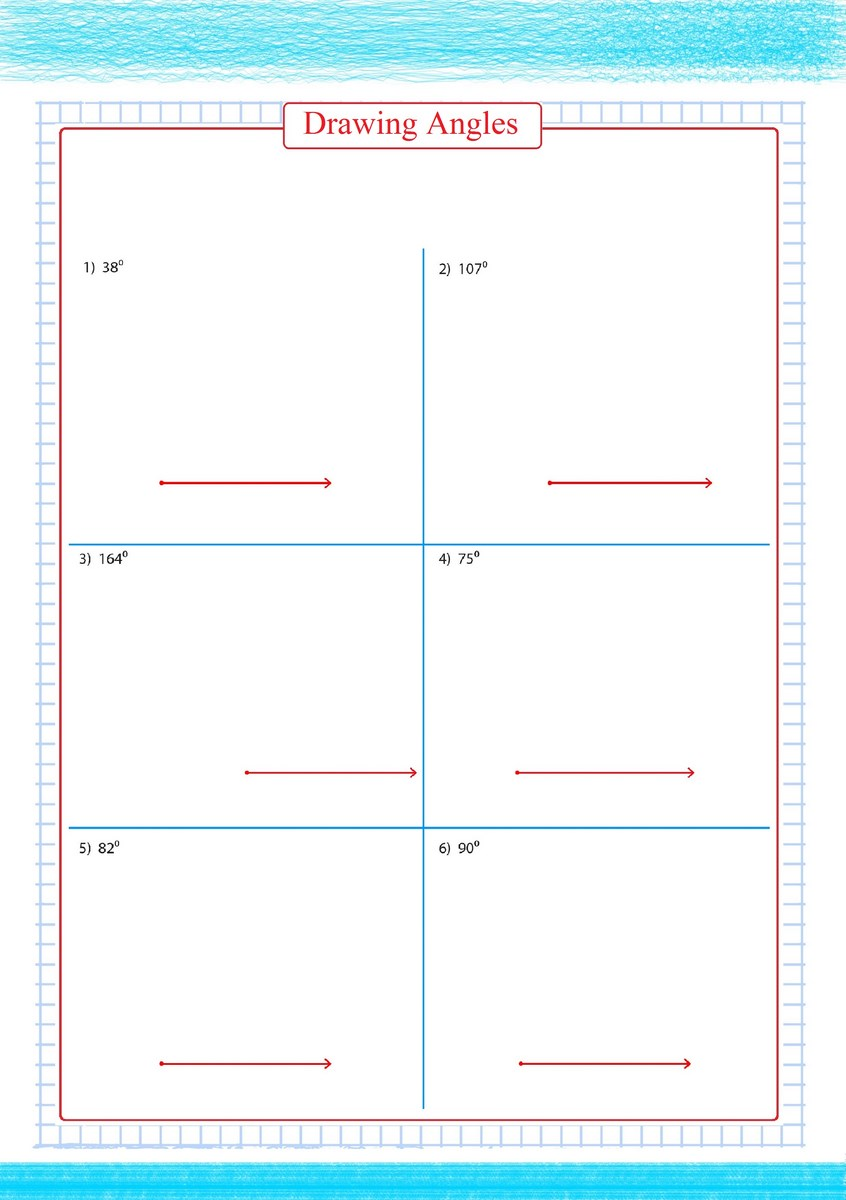 hight resolution of Drawing Angles Worksheets pdf - Free Math Worksheets