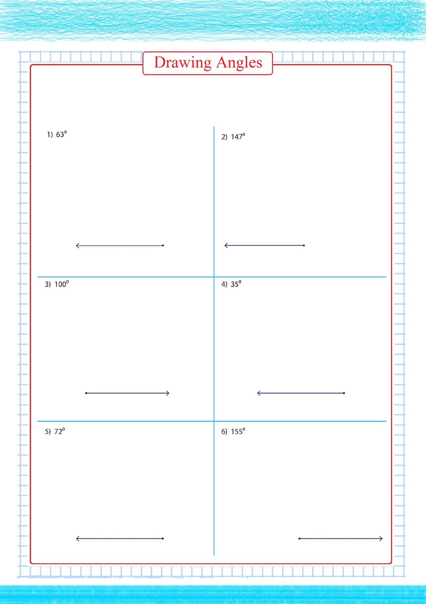 hight resolution of Drawing Angles Worksheets - Free Math Worksheets