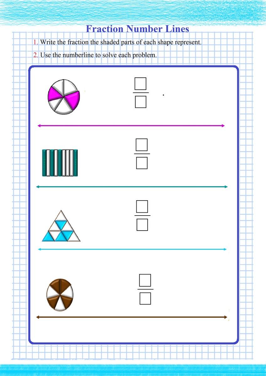 hight resolution of Fraction Number Line PDF - Free Math Worksheets