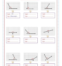 Measure \u0026 Type of Angles - Free Math Worksheets [ 1200 x 846 Pixel ]