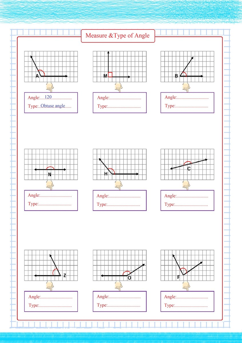 medium resolution of Measure \u0026 Type of Angles - Free Math Worksheets