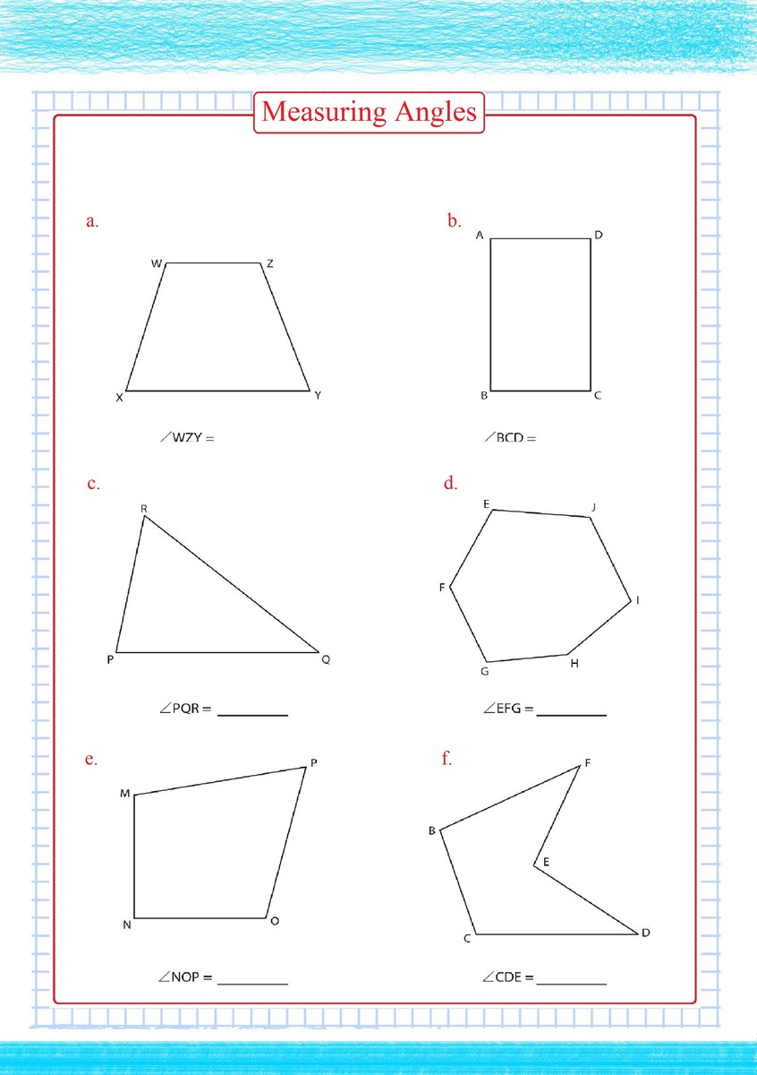 hight resolution of Measuring Angles Worksheets pdf - Free Math Worksheets
