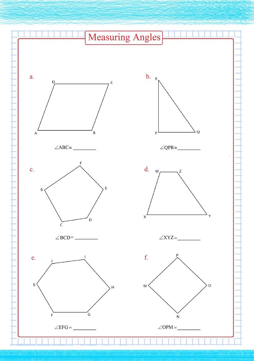 medium resolution of Measuring Angles Worksheets - Free Math Worksheets