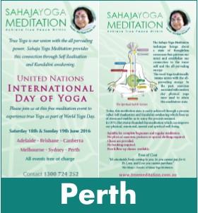 Perth Meditation World Yoga Day