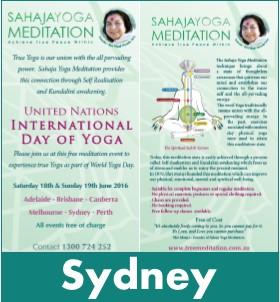 Sydney Meditation World Yoga Day