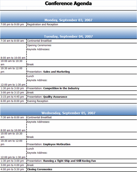 conference schedule excel template - April.onthemarch.co
