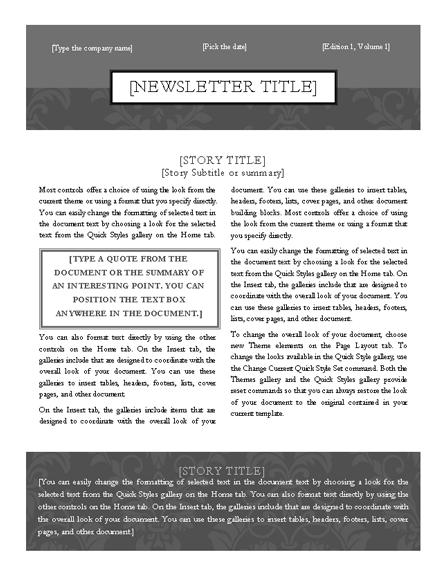 Simple & Elegant Two Column Newsletter Template