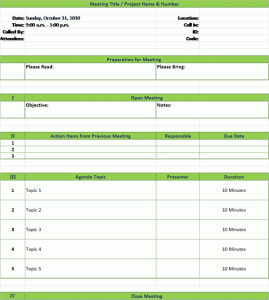 Here's how to write an effective meeting agenda (with meeting agenda templates). Meeting Agenda Template With Meeting Minutes Ready Made Office Templates