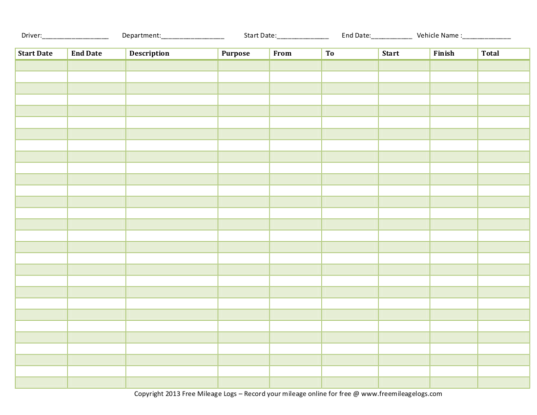 free vehicle expense log template wiring diagram for autometer tach printable mileage logs