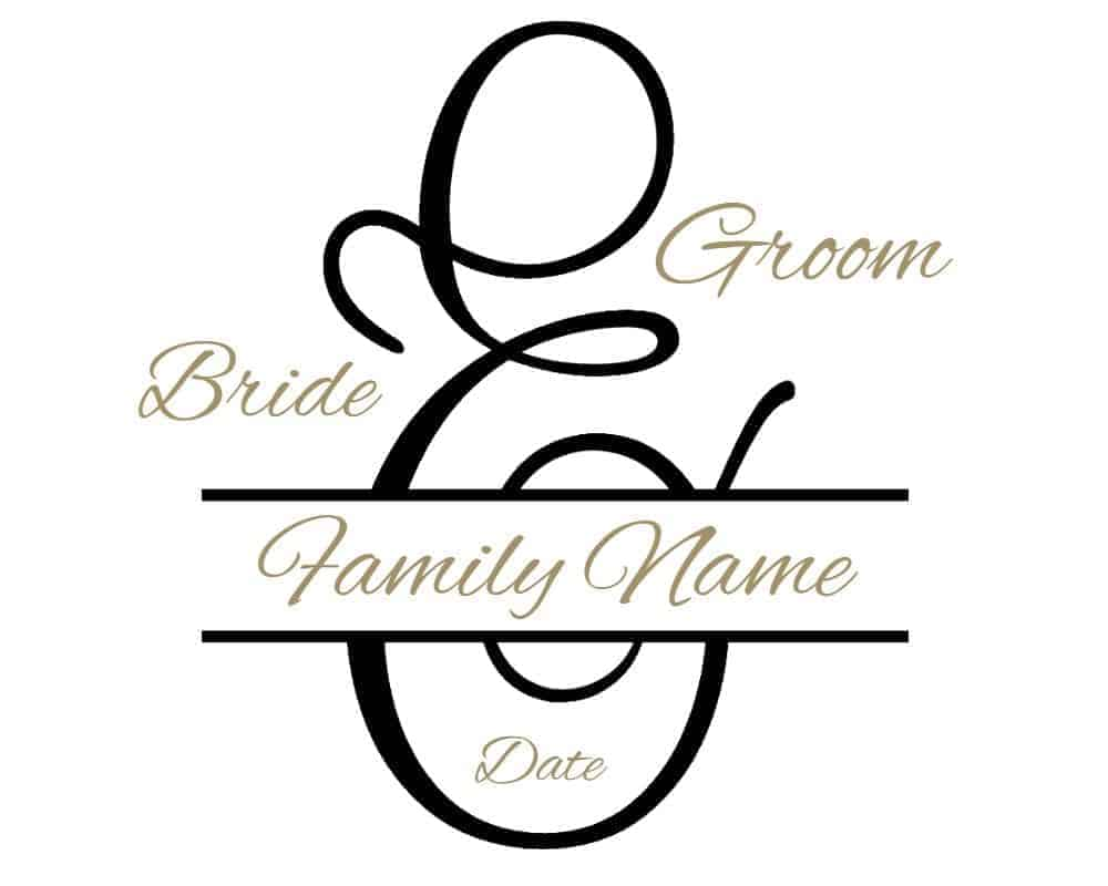 Free Custom Wedding Monogram