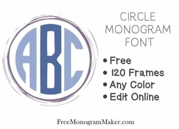 11 monogram font maker images