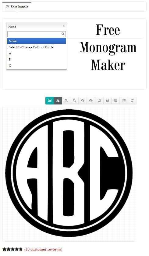 free online monogram maker