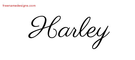 Classic Name Tattoo Designs Harley Printable Free Name