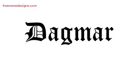 Blackletter Name Tattoo Designs Dagmar Graphic Download ...