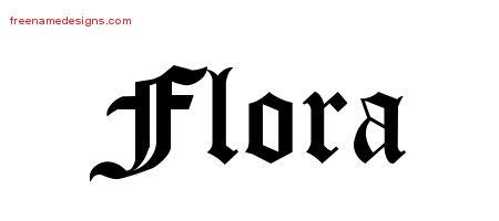 Blackletter Name Tattoo Designs Flora Graphic Download