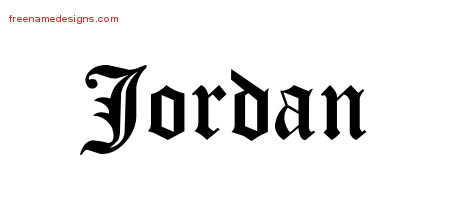 Blackletter Name Tattoo Designs Jordan Graphic Download