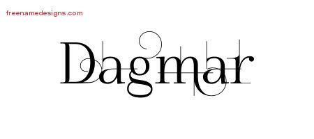 Decorated Name Tattoo Designs Dagmar Free - Free Name Designs