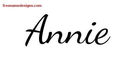 Lively Script Name Tattoo Designs Annie Free Printout