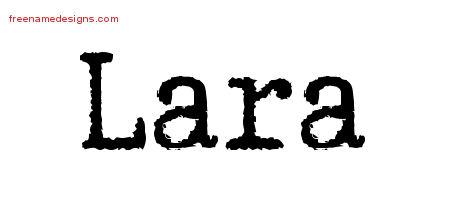Typewriter Name Tattoo Designs Lara Free Download - Free ...