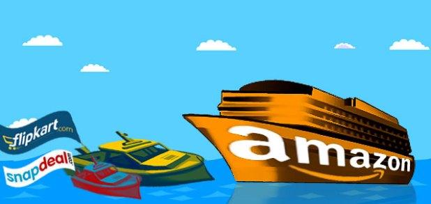 Amazon Vs Flipkart Vs Snapdeal
